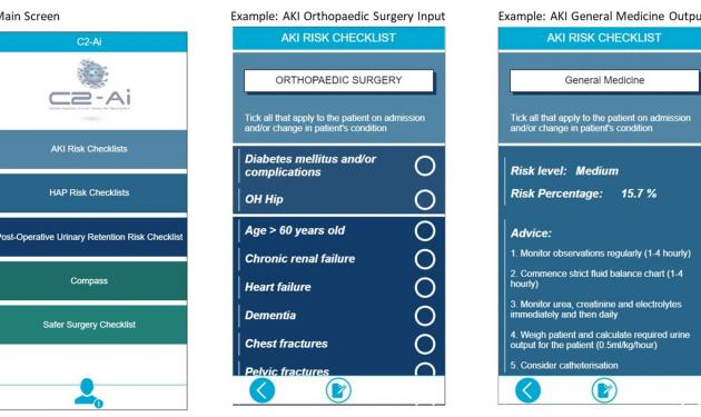 Compass Point of Care AKI & HAP App