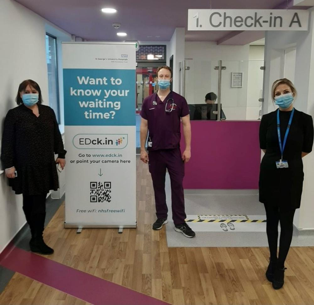 St George's Hospital unveils dual electronic queue management and self check-in