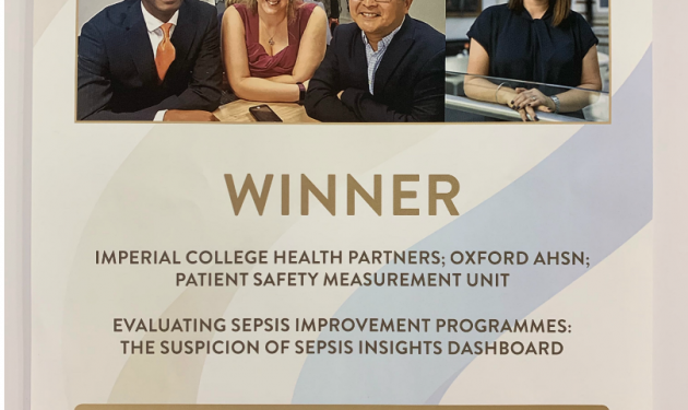 Sepsis identification tool wins national patient safety prize