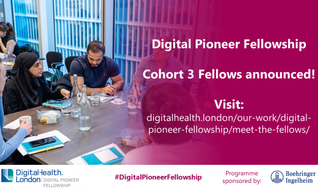 37 NHS staff leading digital transformation projects to be supported by DigitalHealth.London's Digital Pioneer Fellowship